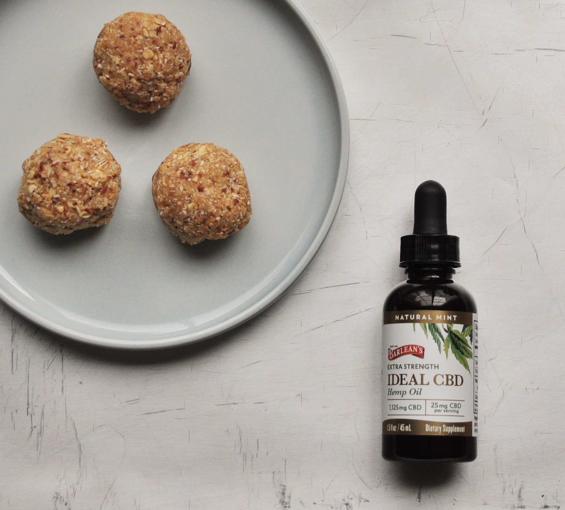 CBD Peanut Butter and Oatmeal Bites | Tangled Up In Food
