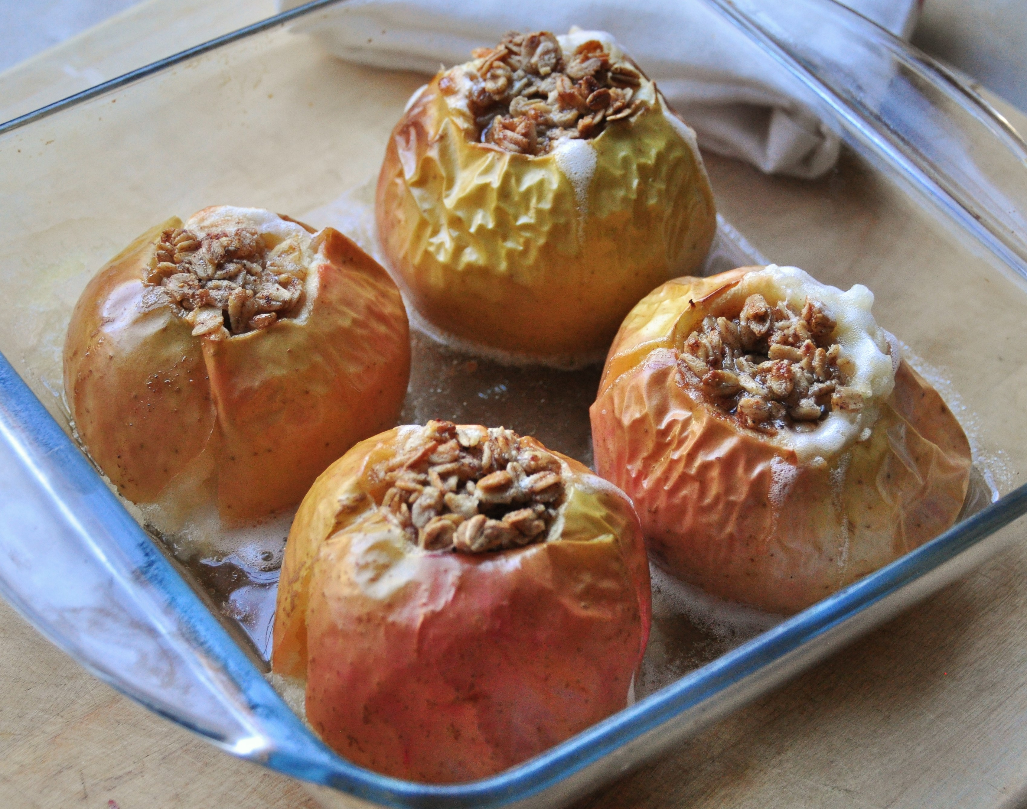 Baked Apples with Oatmeal and Maple Syrup | Tangled Up In Food
