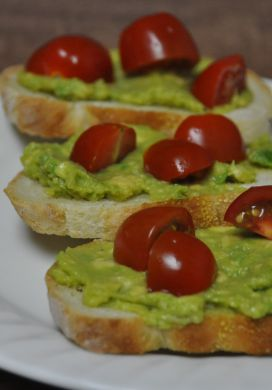 Avocado Tomato Crostini