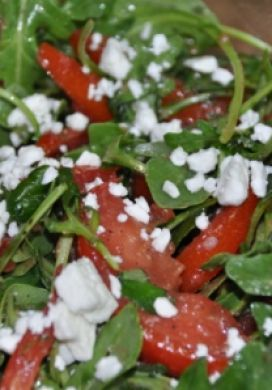 Marinated Tomato Salad with Arugula and Feta