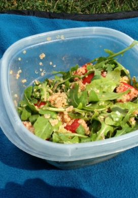 Tomato Arugula Salad with Quinoa