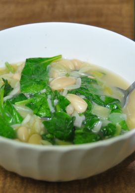 Spinach and Leek Bean Soup