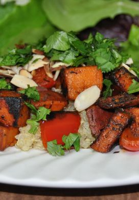 Jamaican Quinoa and Sweet Potatoes