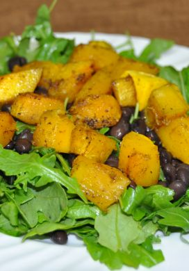 Butternut Squash Salad with Sriracha Lime Dressing