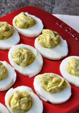 Deviled Eggs with Yogurt and Dill