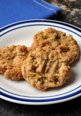 Oatmeal Cornflake Cookies on Plate