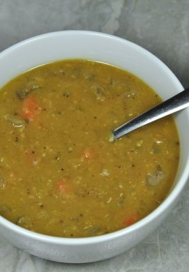 Slow Cooker Vegetarian Pea Soup