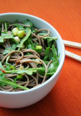 Soba Noodle and Arugula Salad