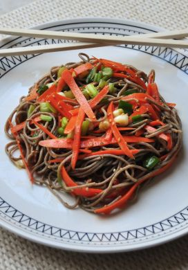 Soba, Sesame, and Carrot Salad