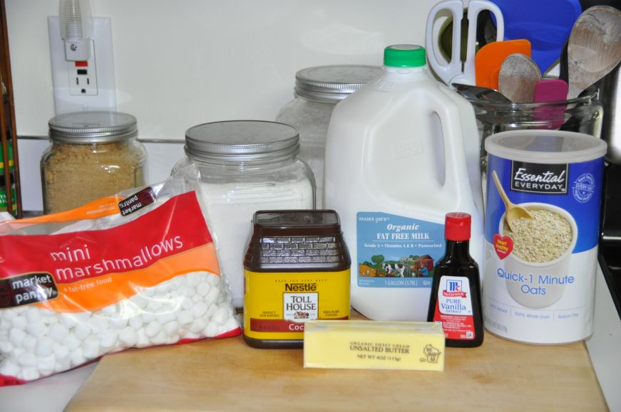 No-Bake Cookie Ingredients