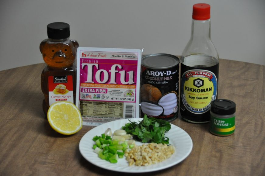 Coconut Curry Tofu Ingredients