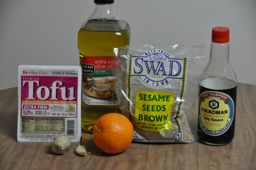 Sesame Pan-Seared Tofu Ingredients