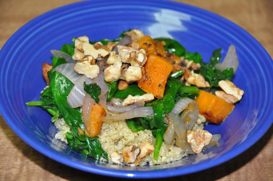 Quinoa with Sweet Potato and Spinach