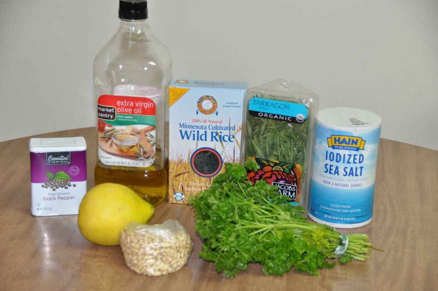 Wild Rice and Pine Nut Salad Ingredients