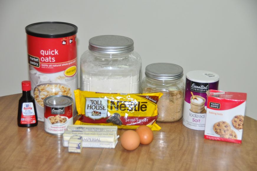 Fudge Oatmeal Bars Ingredients