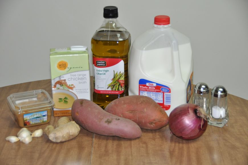 Miso Ginger Sweet Potato Soup Ingredients