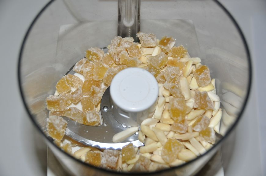 Almond and Crystallized Ginger Before Processing