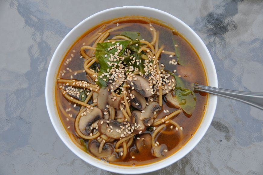 Mushroom, Chard, and Noodle Soup