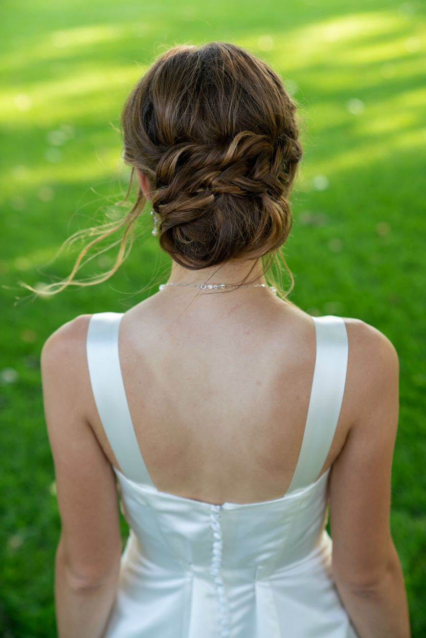 Back view of Stacy's updo