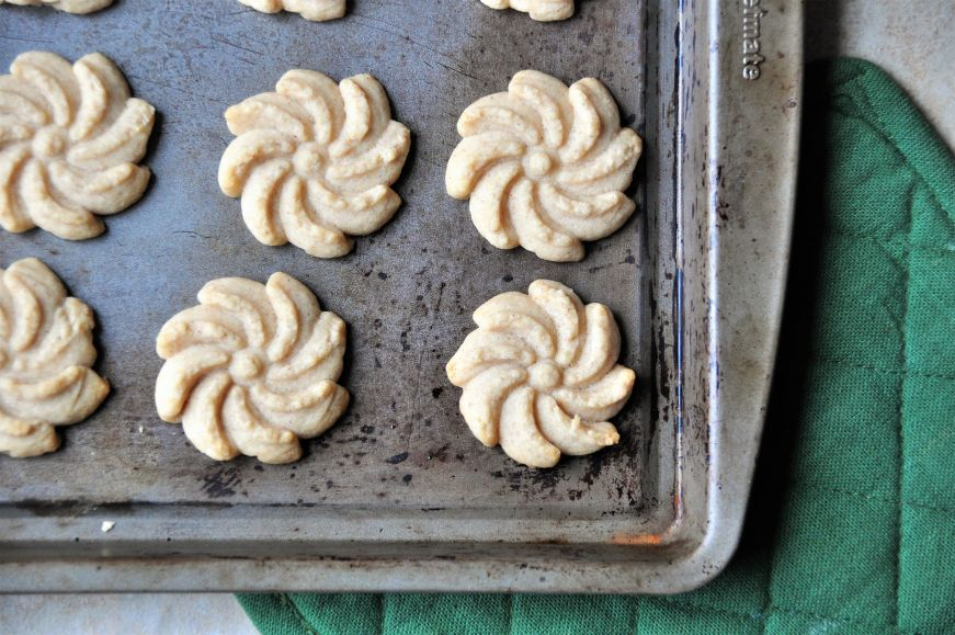 Cinnamon Orange Spritz Cookies