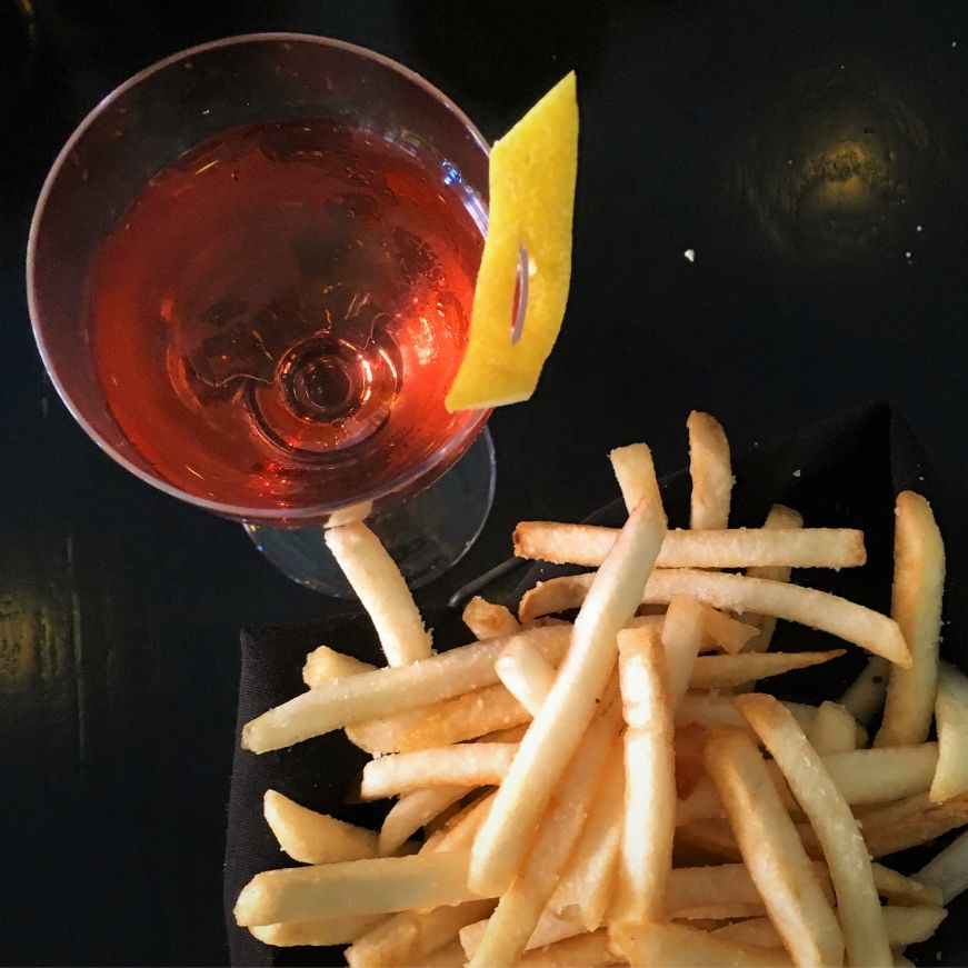 Cocktail and fries, Eastside, Minneapolis
