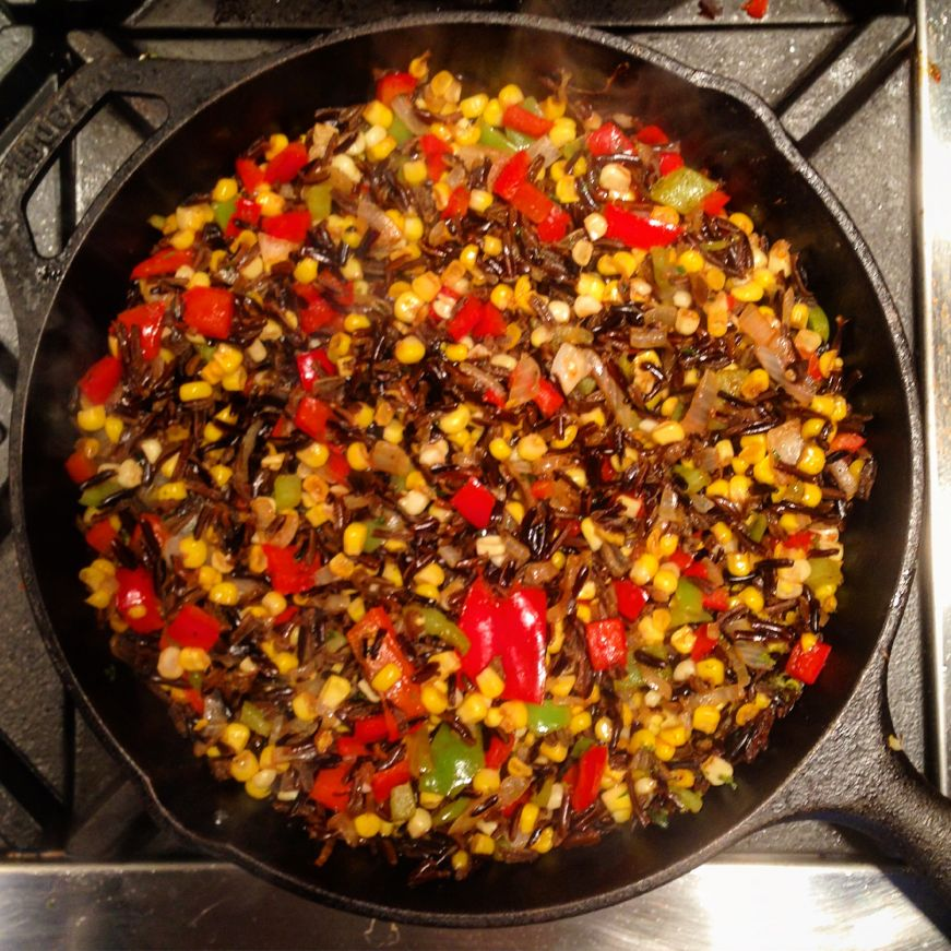 Mexican-spiced wild rice with corn salsa at THAT Cooking School