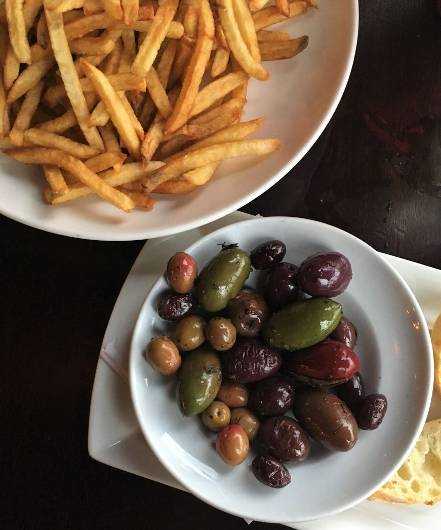 Pommes frites and olives, Barbette, Minneapolis