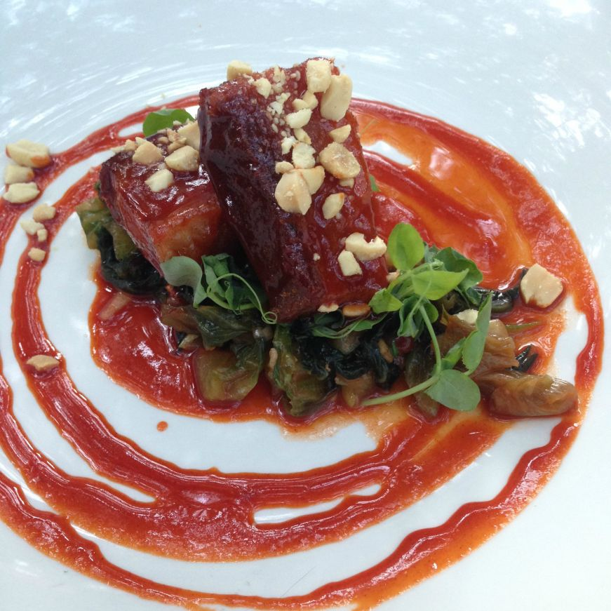 Glazed Pork Belly, W.A. Frost and Company