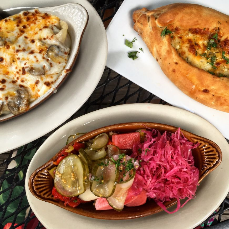 Peasant Pelmeni, Khachapuri, and Pickle Plate, Moscow on the Hill