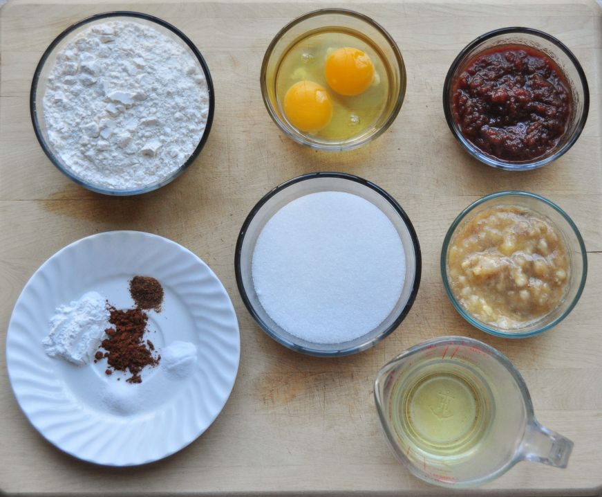 Apple Butter Banana Bread Ingredients