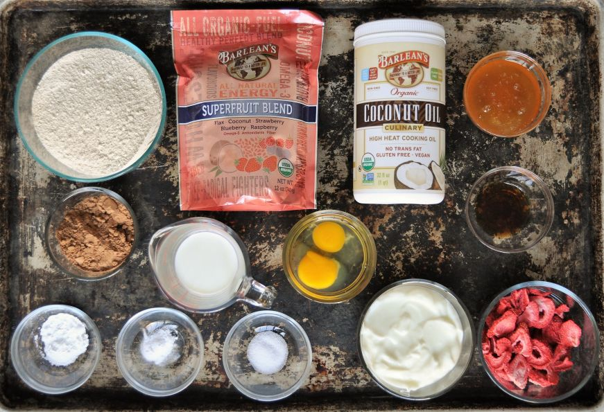 Chocolate Strawberry Bread Ingredients