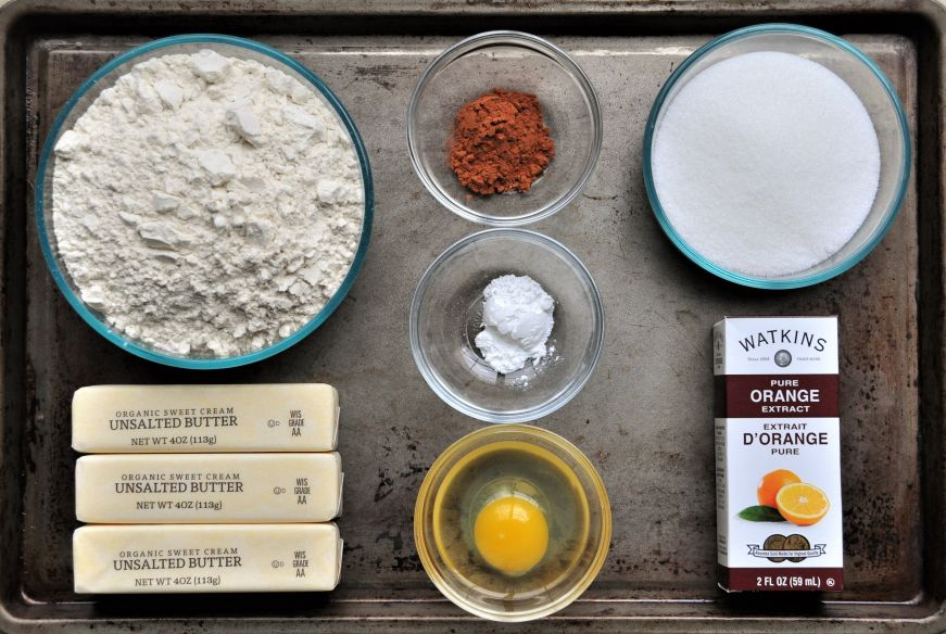 Cinnamon Orange Spritz Cookies Ingredients