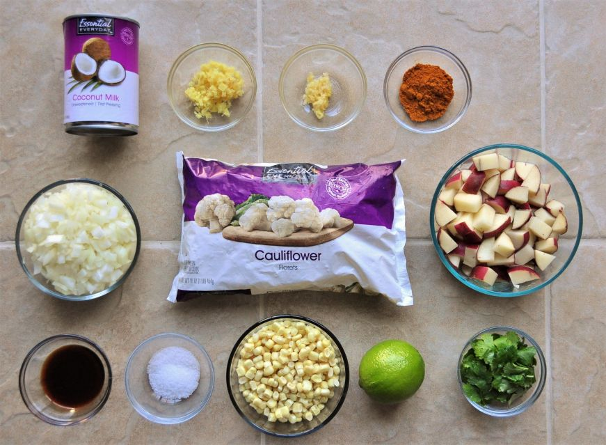 Curried Cauliflower Chowder Ingredients