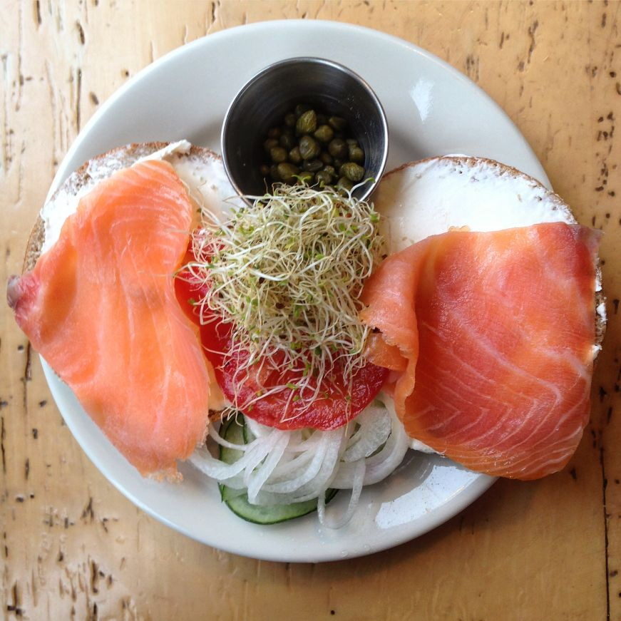 Lox Bagel, Common Roots Cafe