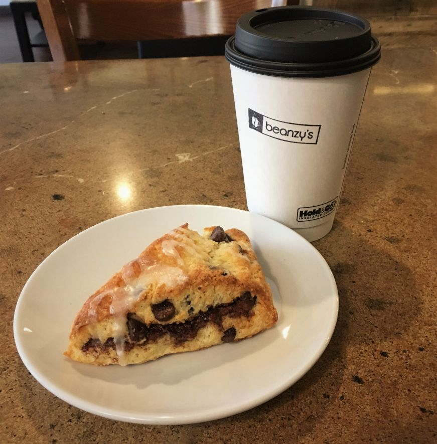 Nutella scone, Beanzy's, Mason City