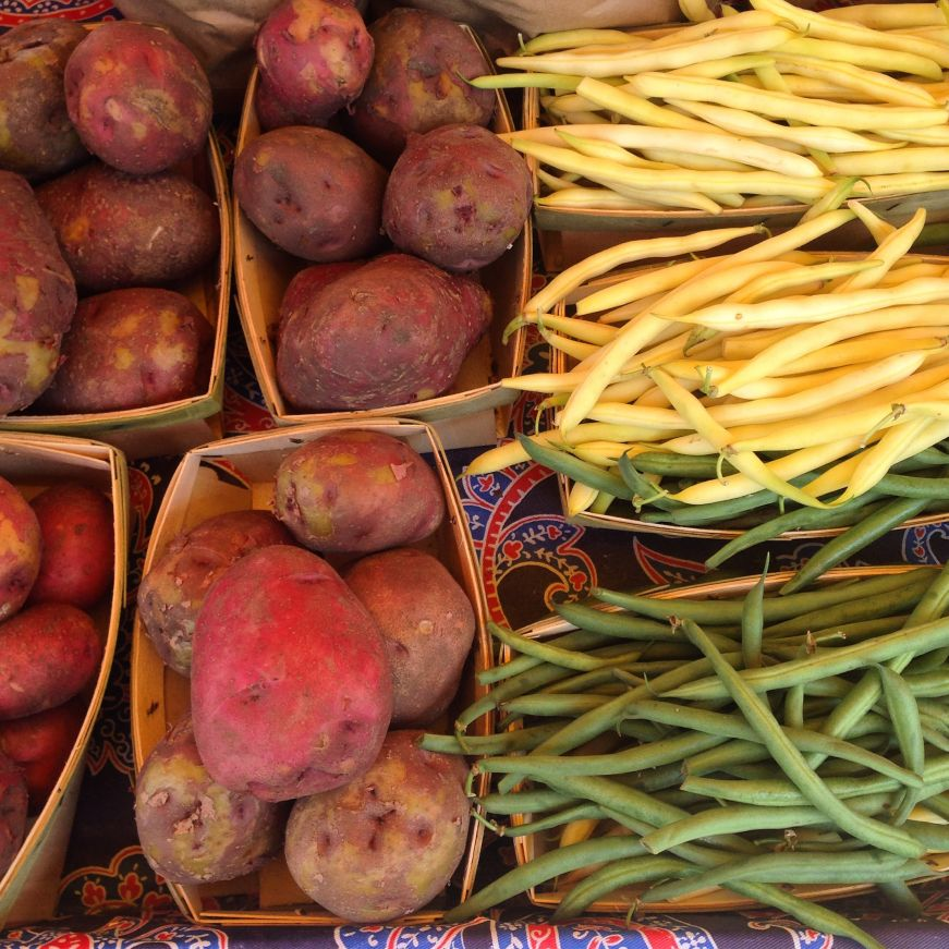 Potatoes and Green Beans at the Untiedt's Farm Stand