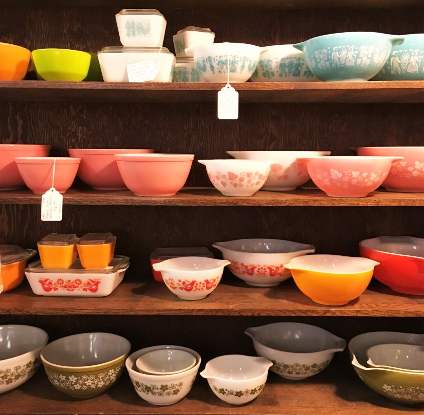 Pyrex bowls at Antique Center of La Crosse
