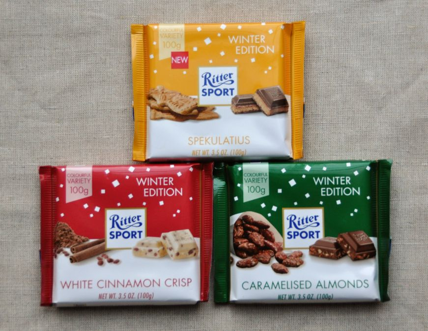 Ritter Sport 2017 Winter Edition Flavors