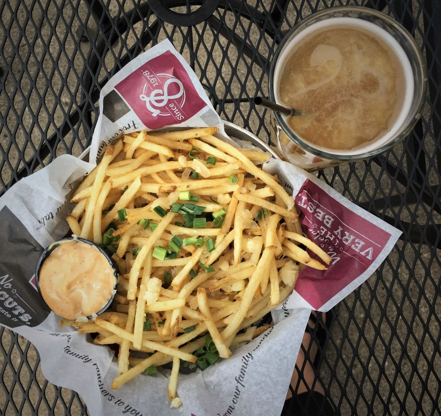 Truffle fries, Edwinton Brewing Company, Bismarck