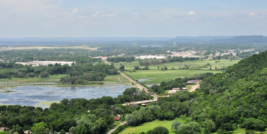 View from Grandad Bluff, La Crosse