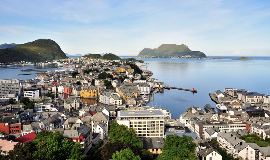 View from the top of Mt. Aksla, Alesund
