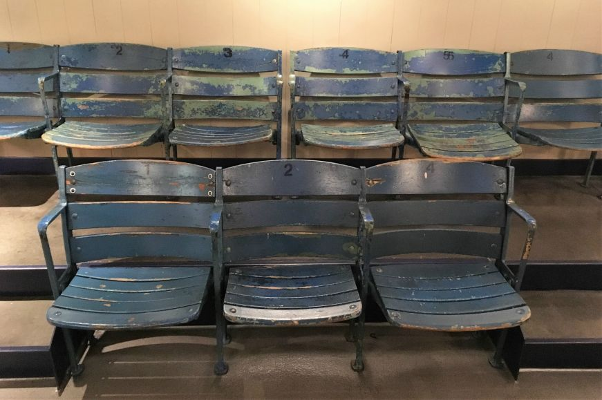 Yankee Stadium seats at Roger Maris Museum, Fargo