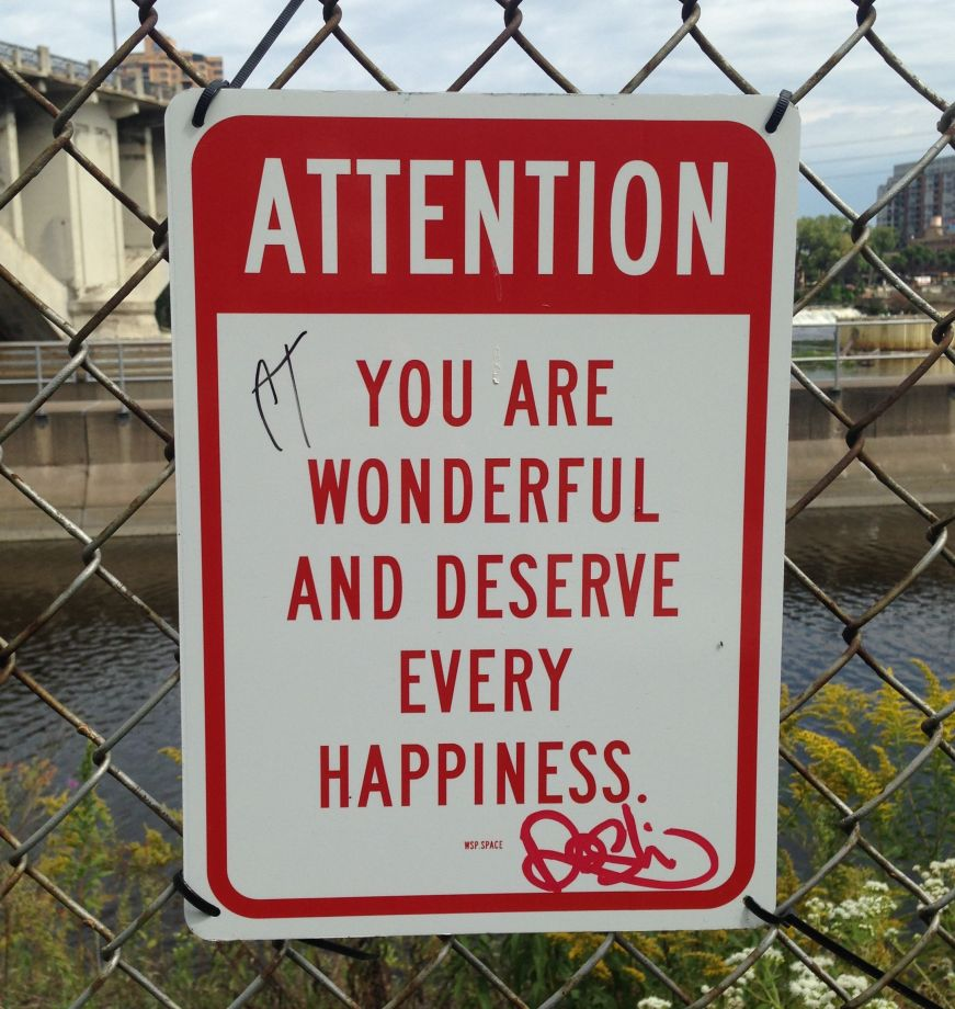 You Are Wonderful Sign