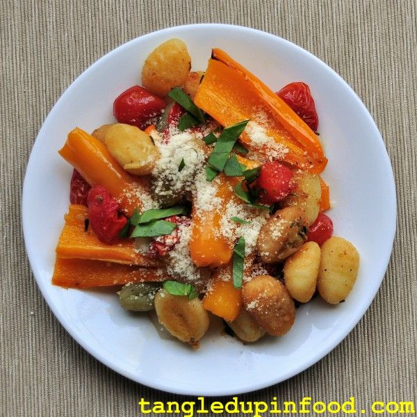 Sheet Pan Gnocchi and Veggies Pinterest Image