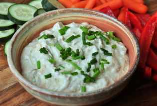 Caramelized Onion and Chive Yogurt Dip