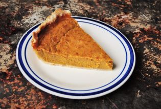 Festal Golden Pumpkin Pie slice