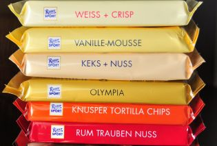 German Ritter Sport Chocolate Bars