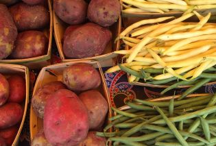 Potatoes and Green Beans at the Untiedt's Farmstand
