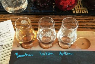 Spirits flight, Mississippi River Distilling Company, Le Claire, Iowa